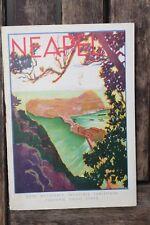 28508 Reise Prospekt NEAPEL 1933 mit großem Stadtplan Pianta di Napoli Italy