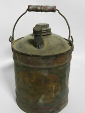 Antique 1 Gallon Kerosene Can Double Spouts Wood Handle VT2645
