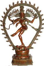 "Large Statue Nataraja Shiva King Jai Hindu Indian Deity 55.8"" Brass Figure 74 KG"
