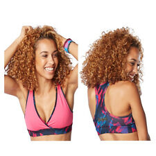 Authentic New Zumba Be The Boss Reversible V Bra Top ~Berry~ M ~ RARE~ MSRP $36