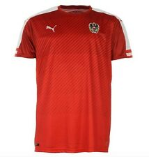 Puma Austria EM 2016 Camiseta Heim Rojo Blanco talla XL nuevo con etiqueta