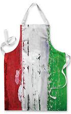 ITALIA BANDIERA ITALIANA GREMBIULE CUCINA BARBECUE COTTURA PITTURA GRANDE IDEA REGALO