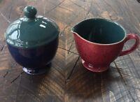 Denby HARLEQUIN Sugar Bowl with Lid & Creamer