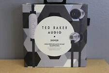 Ted Baker London Dover High-Performance In-Ear Headphones - Black/Silver NEW