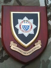 West Sussex Fire and Rescue Service Brigade Wall Plaque Shield