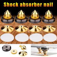 Gold Speaker Spike mit Bodenscheiben, Standfuß, Kegel Isolation Spikes