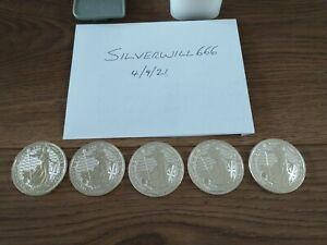 Silver Britannia 2021 1 oz x 5 Silver Bullion Coins 5 Ounces 999 Silver Bullion
