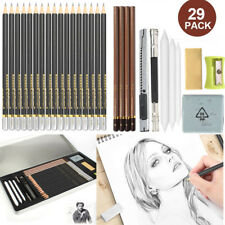 Graphite Drawing Pencils Sketch Set (29-Piece Artist Kit) Charcoals, Pastels Us