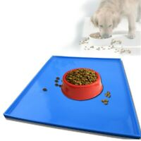 Dog Bowl Mat Cat Pet Feeding Water Food Dish Tray Wipe Clean Floor Placemat Hot