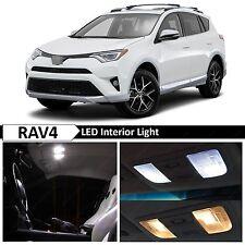 12x White Interior LED Lights Package Kit for 2013-2016 Toyota RAV4 + TOOL