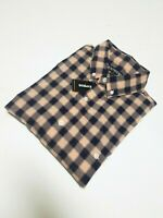Express Men's Buttondown Casual Shirt New Peach/Navy New Sz M,L