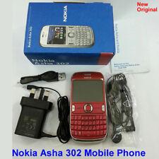 100% Genuine Original New Nokia Asha 302 unlock Mobile Phone 3G Wifi 3.15MP -Red