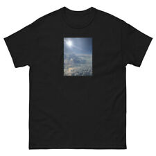 Men's black above the clouds graphic tee