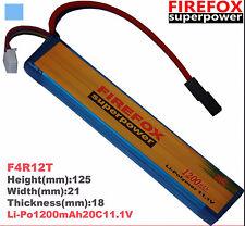 100% Orginal Firefox 11.1V 1200mAh 20c LiPo Li-Po Li- Polymer Battery 25C