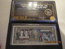 """Star Trek Coin ( E 04990571A  ) THE CREW OF STAR TREK AND THE SHIP """" ENTERPRISE"""
