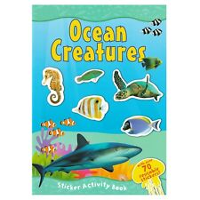 Ocean Sea Creatures A4 Sticker Book Over 70 Reusable Stickers Kids Educational