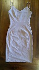 Women's Nude cut out back design Bodycon dress Lined sz8 BNWOT free post E24