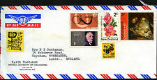 Nouvelle-Zélande 1972 commercial air mail cover to UK #C42182