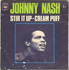"JOHNNY NASH ""STIR IT UP / CREAM PUFF"" ROCKSTEADY 70'S SP CBS 7800"