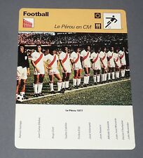 FICHE FOOTBALL 1977 PEROU PERU ARGENTINA 78 QUIROGA CUBILLAS OBLITAS CHUMPITAZ