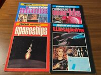 Lot of 4 Starlog Photo Guidebook Spaceships Aliens Weapons Fantastic Worlds