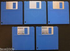 "5x BLANK 3.5"" 720K 800K DS FLOPPY DISKS DISK DOUBLE SIDED DENSITY ATARI AMIGA PC"