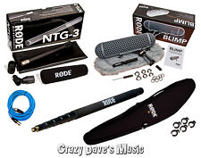 Rode NTG3 Location Microphone Sound Package Blimp Boompole XLR Cable Clips NTG 3
