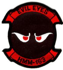 HMM-163 RIDGERUNNERS EVIL EYES MARINES PATCH IRAQ VIETNAM MCAS TUSTIN 3D MAW WOW
