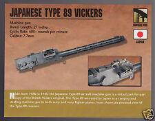 JAPANESE TYPE 89 VICKERS Japan Machine Gun 7.7mm Classic Firearms PHOTO CARD