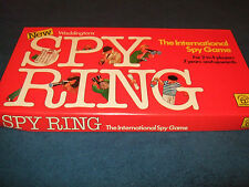 SPY RING-- FAMILY SPY BOARD GAME BY WADDINGTONS 1978