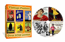 OVER 6700 VINTAGE OLD CLASSIC POSTERS PHOTOS IMAGES ON CD ROM