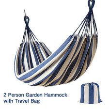 Hammock Garden Canvas Outdoor Hanging Bed Straps Portable Camping Travel Bag UK