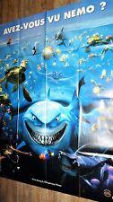 LE MONDE DE NEMO   ! affiche cinema animation bd disney modele B requin