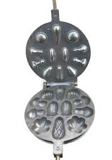 RUSSIAN SWEET MUSHROOMS USSR MOLD COOKIE IRON FOR OVEN ORESHNICA