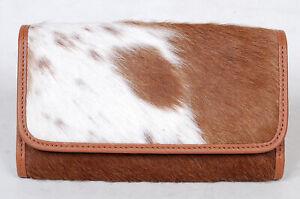 100% Real Cowhide Wallet Real Leather Hair ON Western Ladies Wallets  SA-3004