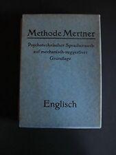 Antik Methode Mertner Psychotechnischer Spracherwerb Englisch 6 Hefte K0277