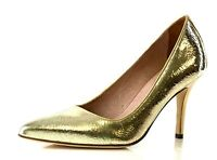 Corso Como Clemson Gold Metallic Distressed Pumps 7066 Size 8.5 M NEW!