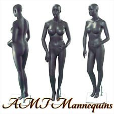 One Female mannequin+Base, Full body, Sexy hand made gray manikin S25-1