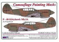 AML Models 1/72 CURTISS P-40 KITTYHAWK Mk.IA Camouflage Paint Mask Set