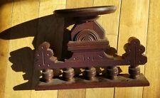 Carved pediment repurpose 1880 walnut Victorian