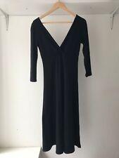 Splendid Womens Long Sleeves Cotton Blend Black Sheath Dress, Size Small