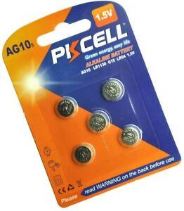 5 PKCELL LR1130 AG10 189 L1131 389 V10GA 1.5 V Alkaline Button Cell Battery