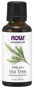 NOW FOODS 100% Pure Tea Tree Oil 1 oz (30 ml) Melaleuca alternifolia 2/2023EXP