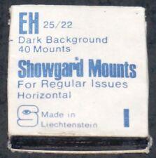 Showgard Stamp Mounts EH 25x22mm Black Background (Qty 40)