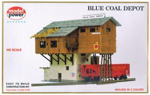 Model Power 453 HO Scale Blue Coal Depot Building Kit