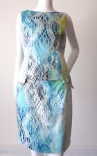 ELIE TAHARI Women's Dress rrp $525 Sleeveless Cotton Sheath Size 8 US 4 IT 40