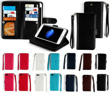 MAXIPRO™ Genuine Leather 9 Card Slots Wallet Case For iPhones Samsung Phones