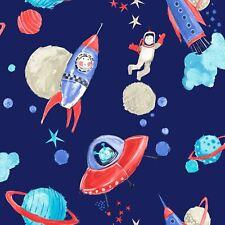 Naves Espaciales con Purpurina Papel Pintado -azul- Arthouse 668000 Espacio