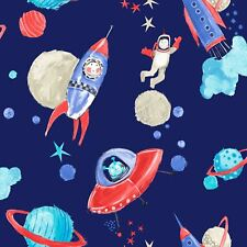 STARSHIPS GLITTER WALLPAPER - BLUE - ARTHOUSE 668000 SPACE PLANETS