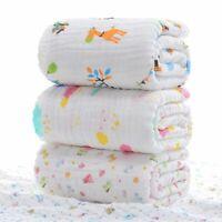 Baby Blanket Swaddle Muslin Wrap Kids Bedding Bath Towel Cotton Stroller Cover